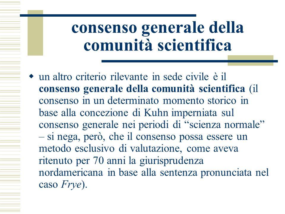 consenso generale della comunità scientifica