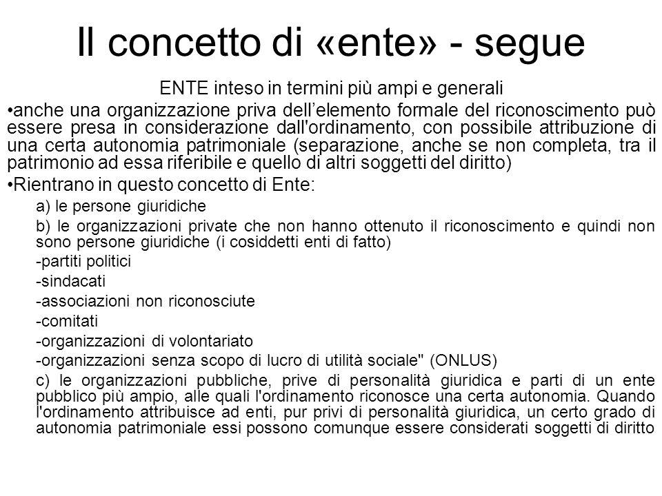 Il concetto di «ente» - segue