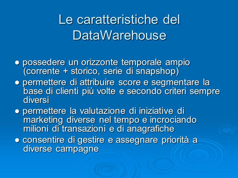Le caratteristiche del DataWarehouse