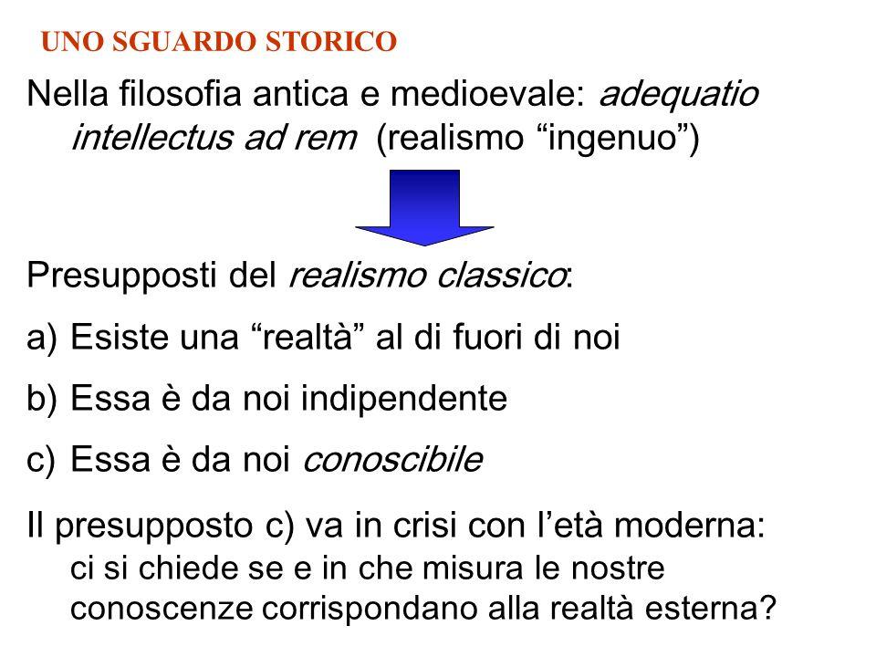 Presupposti del realismo classico: