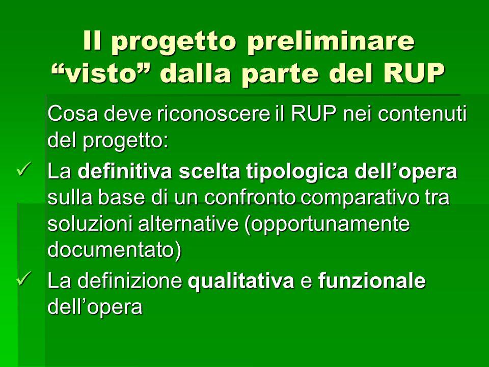 Il progetto preliminare visto dalla parte del RUP