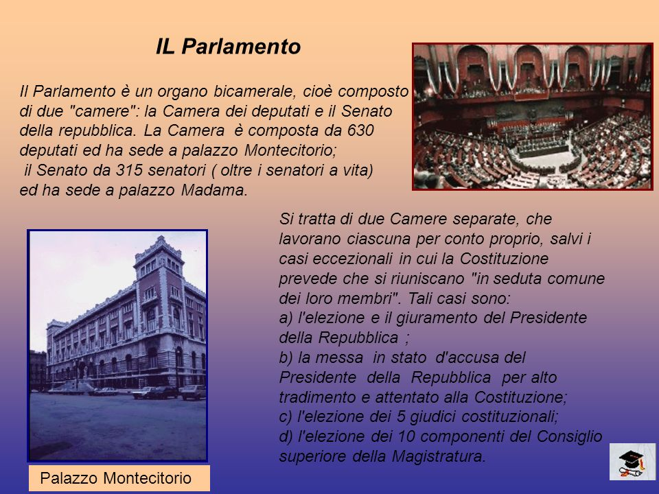 La funzione legislativa del parlamento ppt video online for Le due camere del parlamento