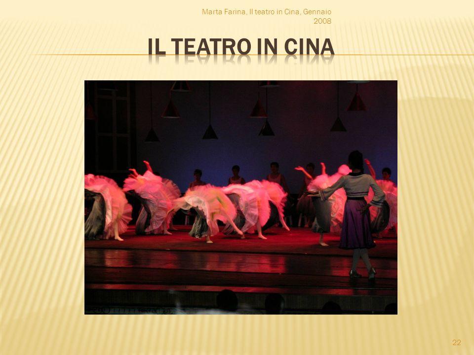 Marta Farina, Il teatro in Cina, Gennaio 2008