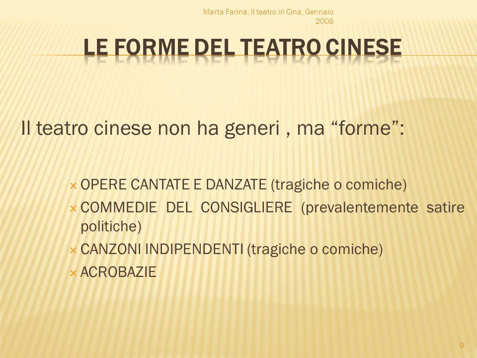 LE FORME DEL TEATRO CINESE