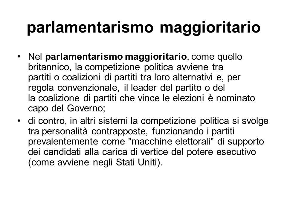 parlamentarismo maggioritario