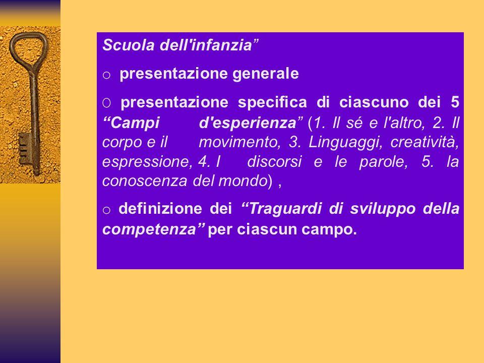 Scuola dell infanzia o presentazione generale.