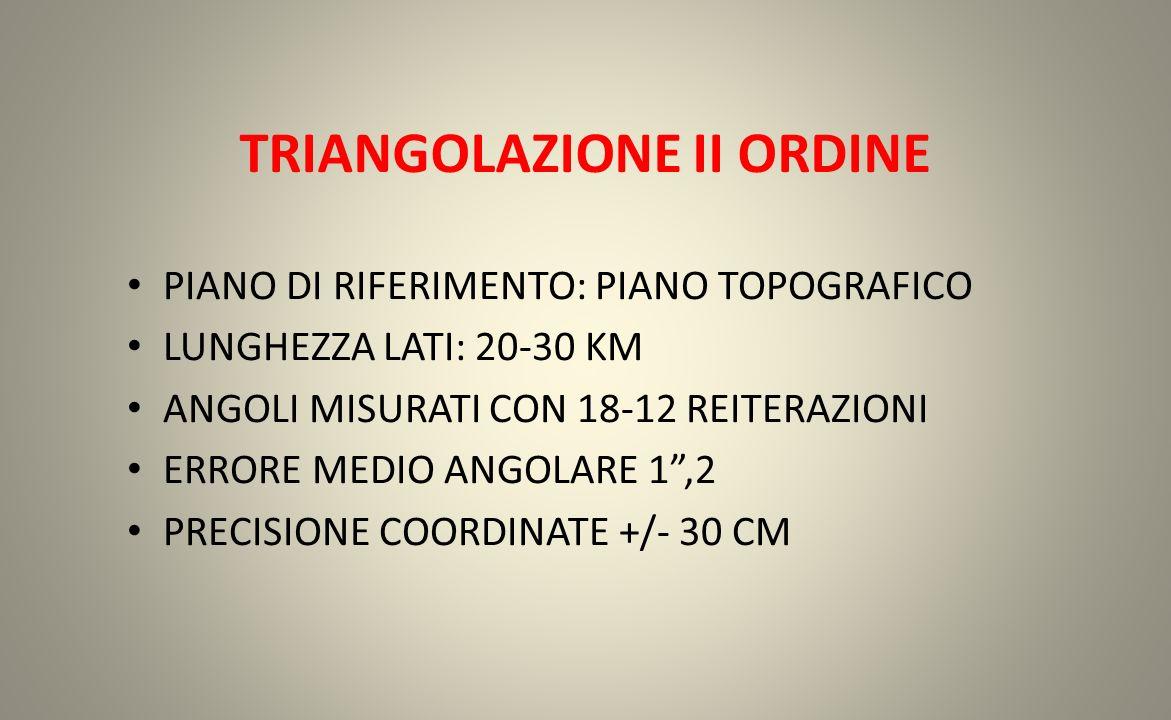 TRIANGOLAZIONE II ORDINE