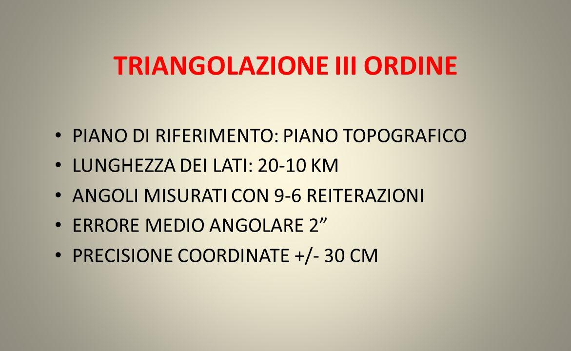 TRIANGOLAZIONE III ORDINE
