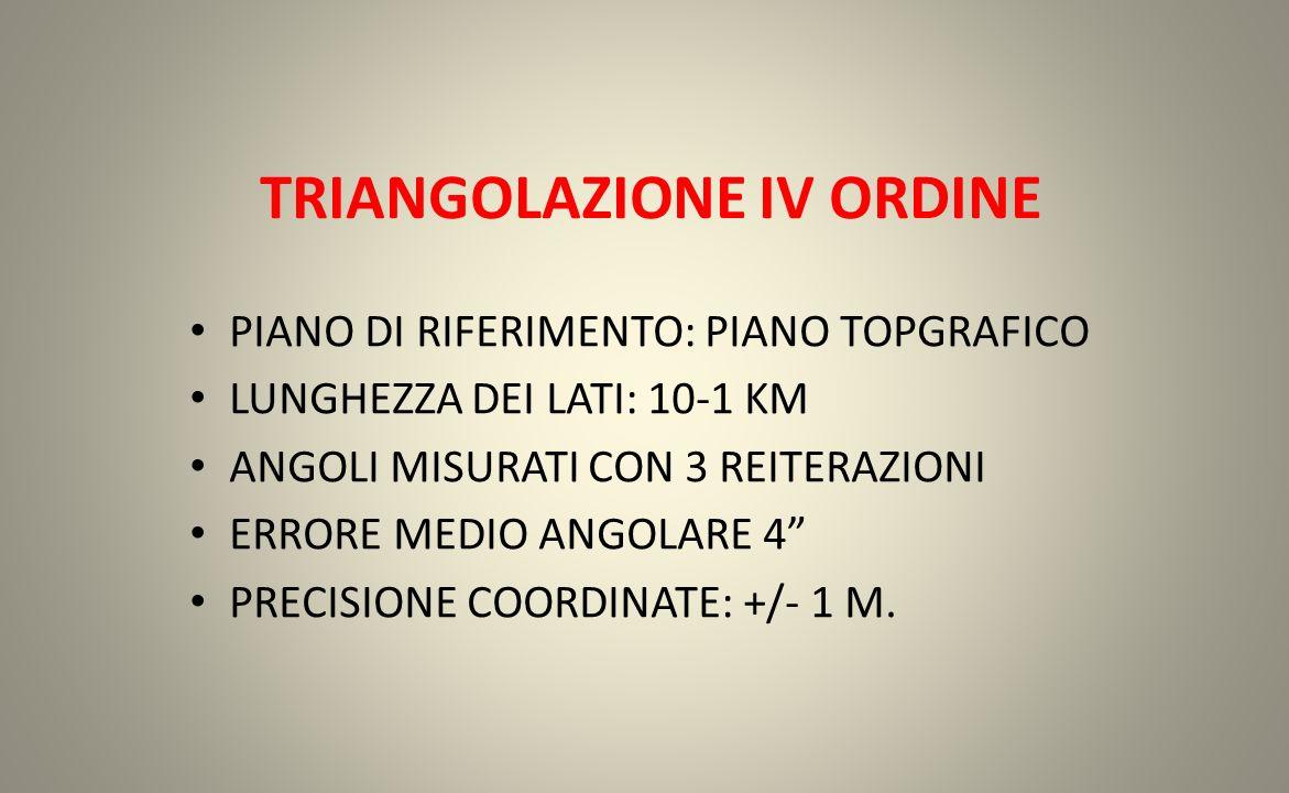 TRIANGOLAZIONE IV ORDINE