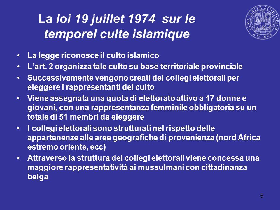 La loi 19 juillet 1974 sur le temporel culte islamique