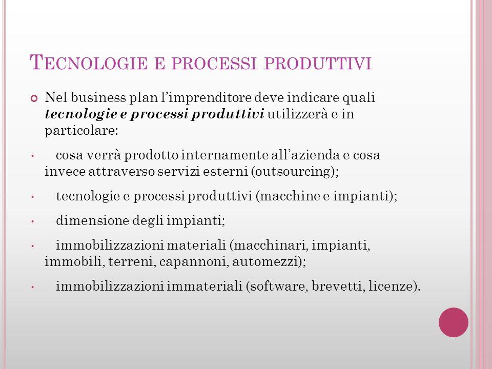 Tecnologie e processi produttivi