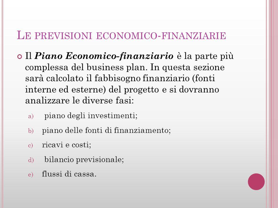 Le previsioni economico-finanziarie