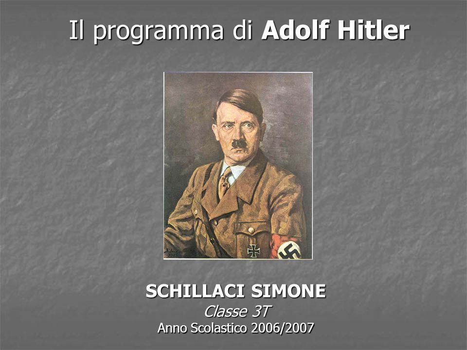 Il programma di Adolf Hitler