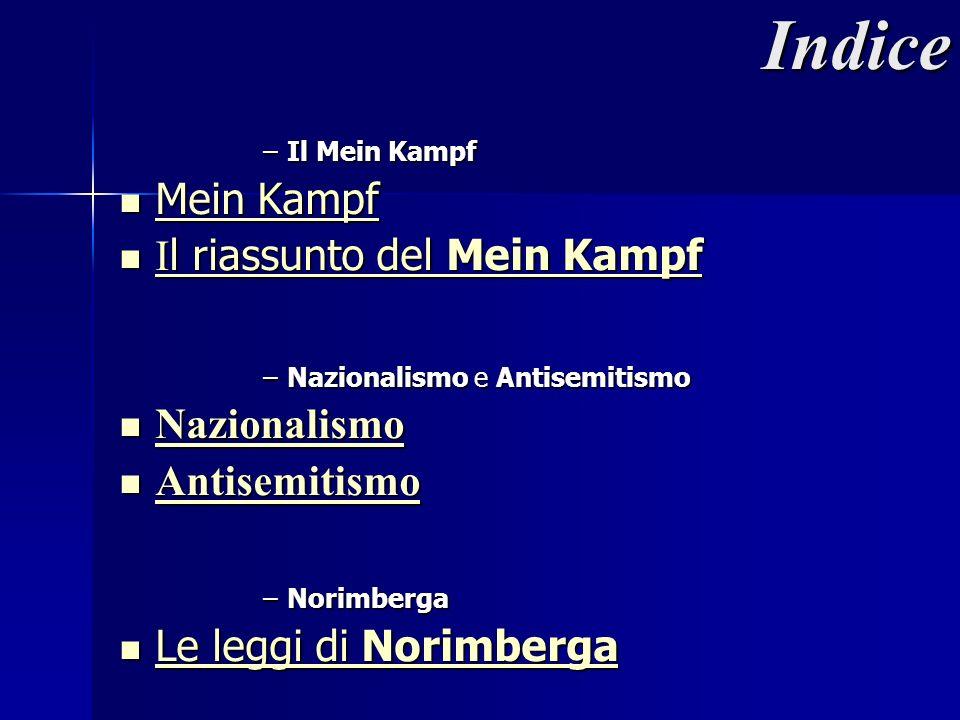 Indice Mein Kampf Il riassunto del Mein Kampf Nazionalismo