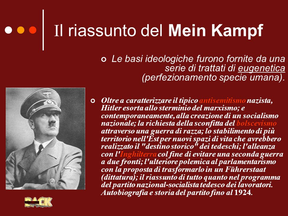 Il riassunto del Mein Kampf