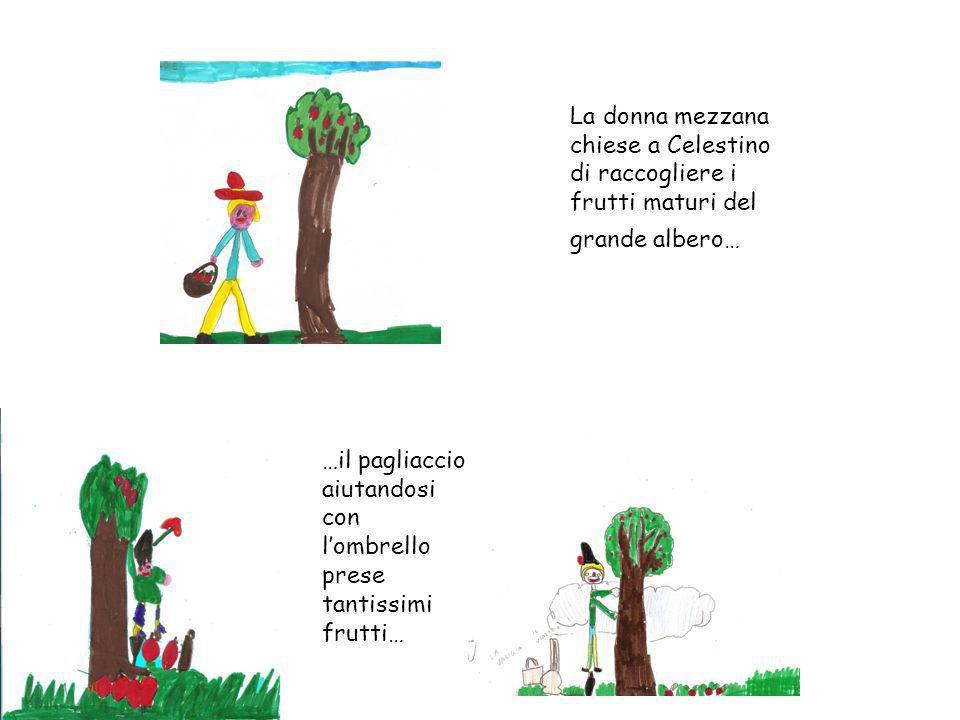 La donna mezzana chiese a Celestino di raccogliere i frutti maturi del grande albero…