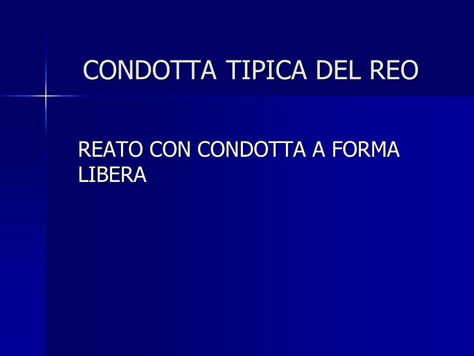 CONDOTTA TIPICA DEL REO