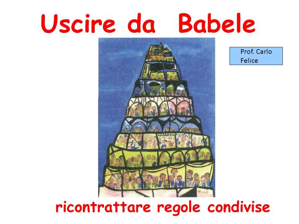 Uscire da Babele Prof. Carlo Felice ricontrattare regole condivise 1