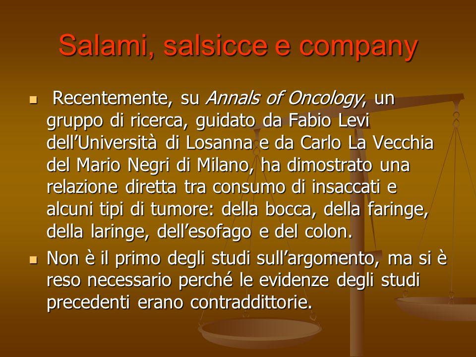 Salami, salsicce e company