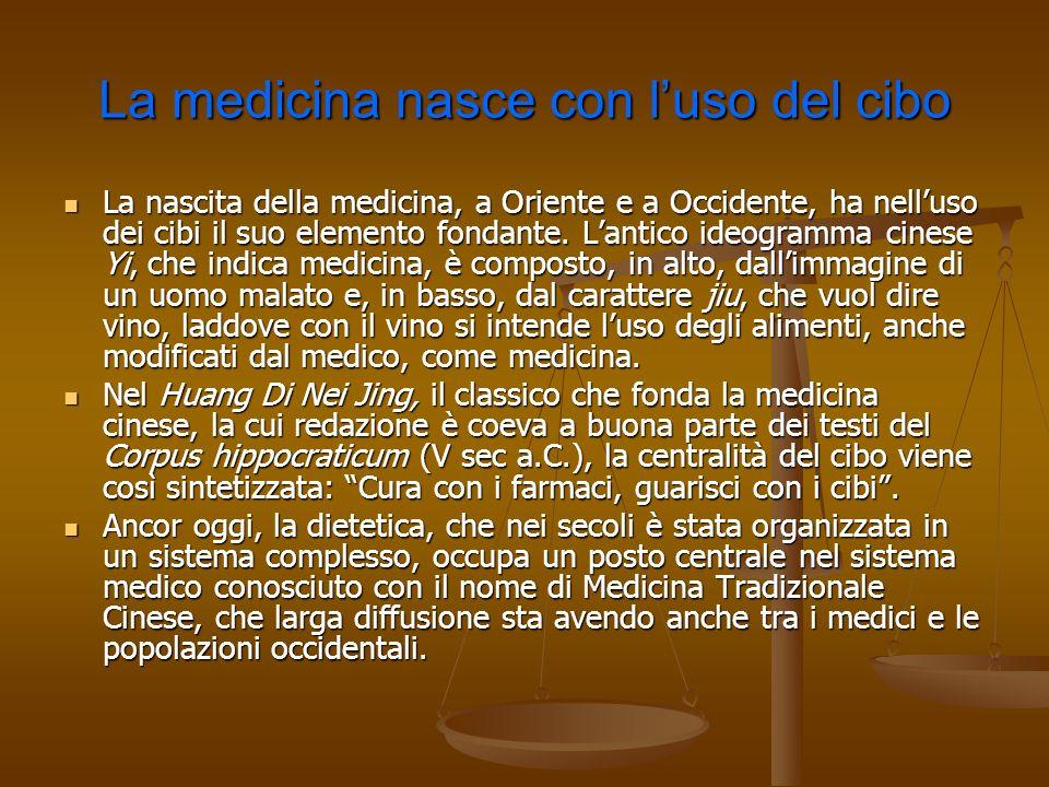 La medicina nasce con l'uso del cibo