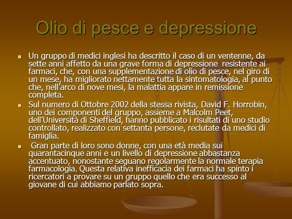 Olio di pesce e depressione