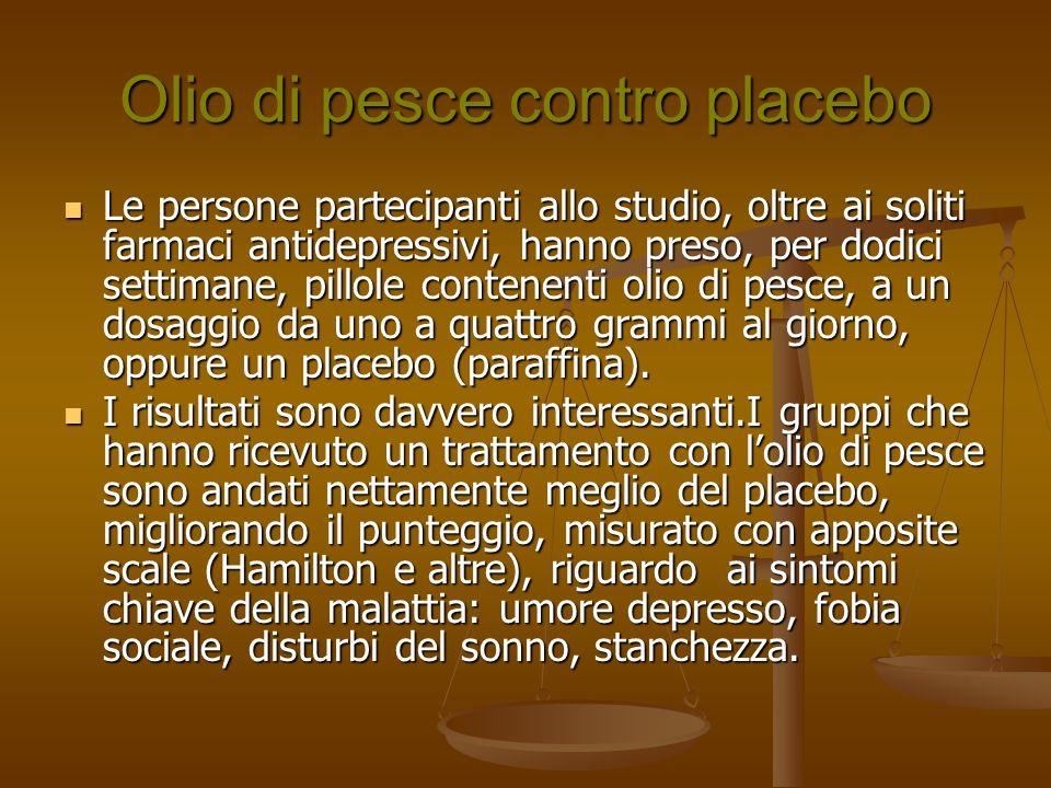 Olio di pesce contro placebo