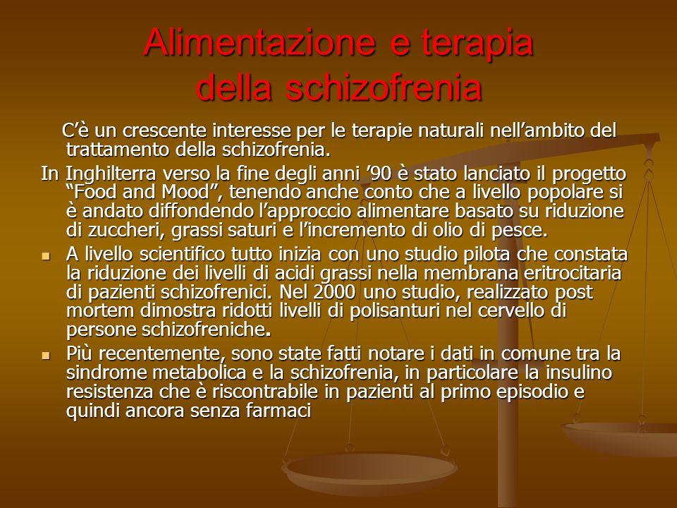 Alimentazione e terapia della schizofrenia