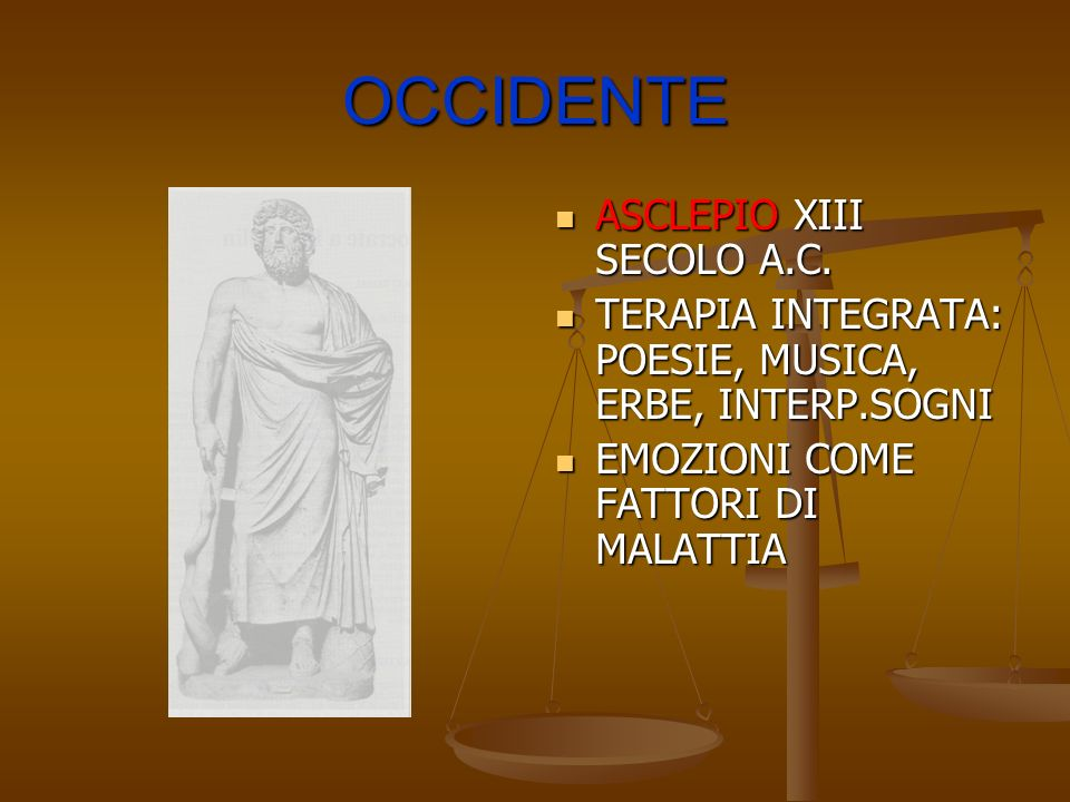 OCCIDENTE ASCLEPIO XIII SECOLO A.C.