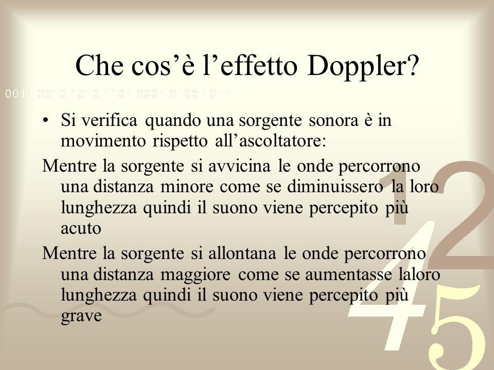 Che cos'è l'effetto Doppler