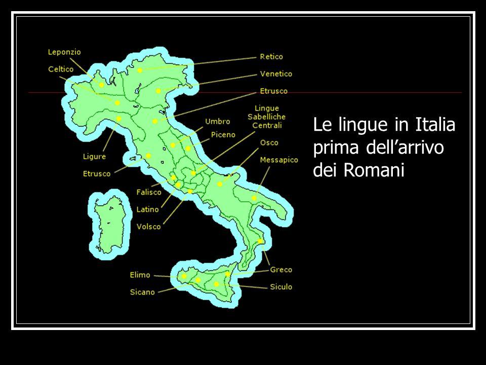 Le lingue in Italia prima dell'arrivo dei Romani