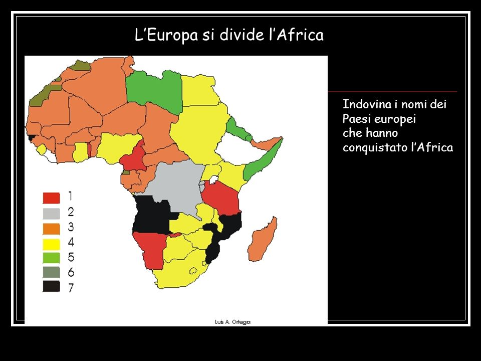L'Europa si divide l'Africa