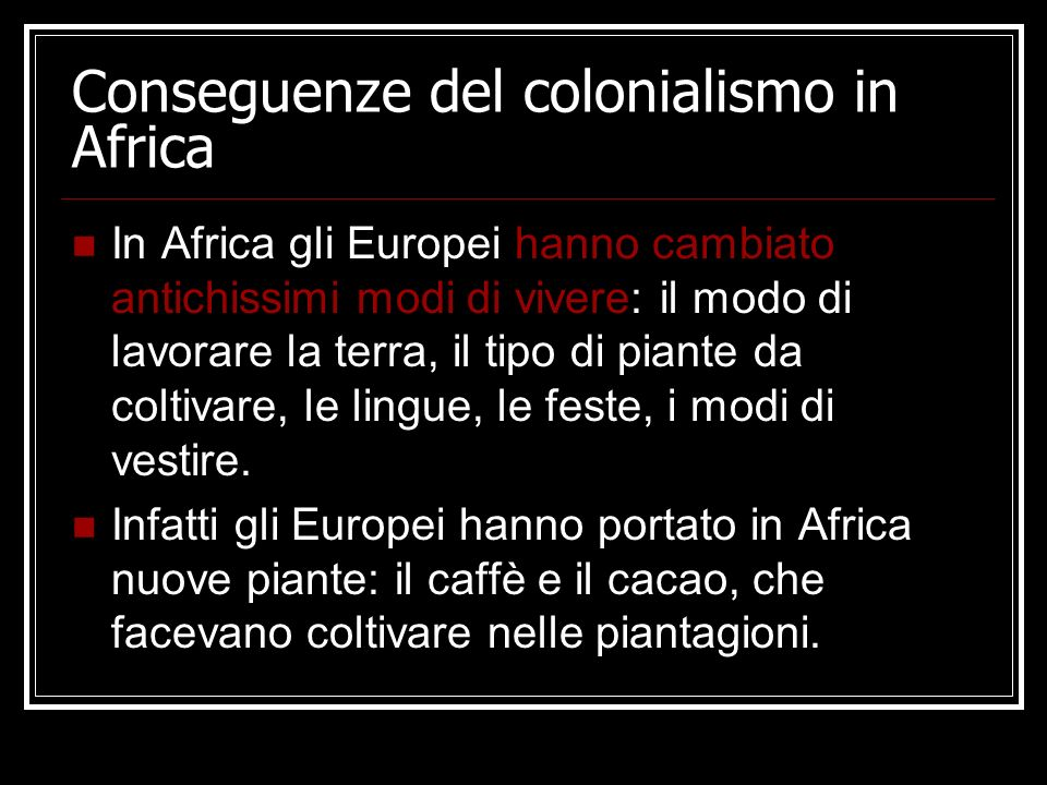 Conseguenze del colonialismo in Africa