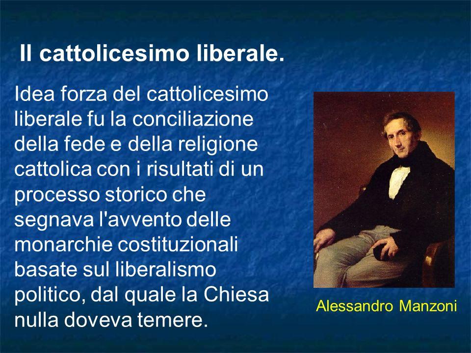 Il cattolicesimo liberale.