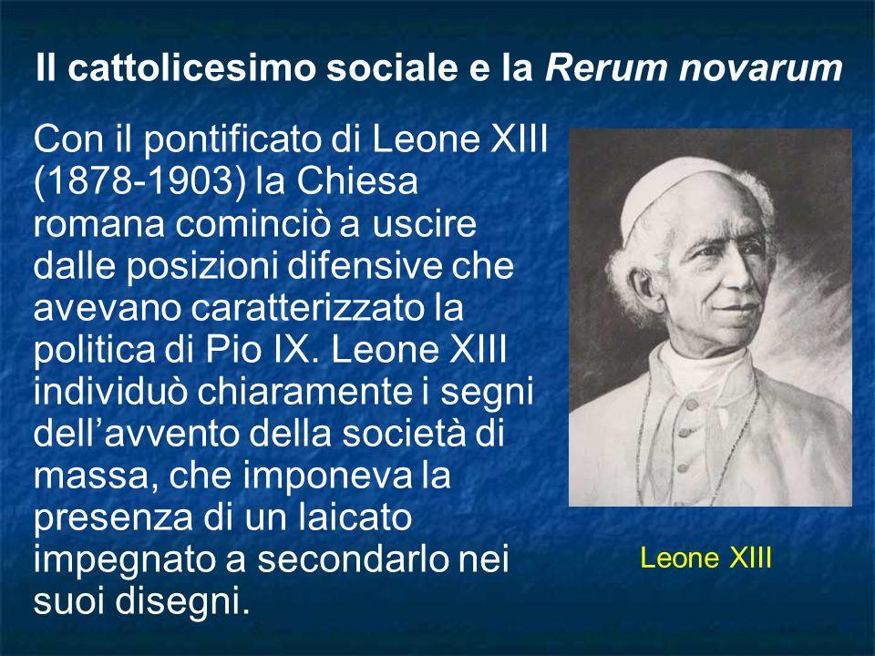 Il cattolicesimo sociale e la Rerum novarum