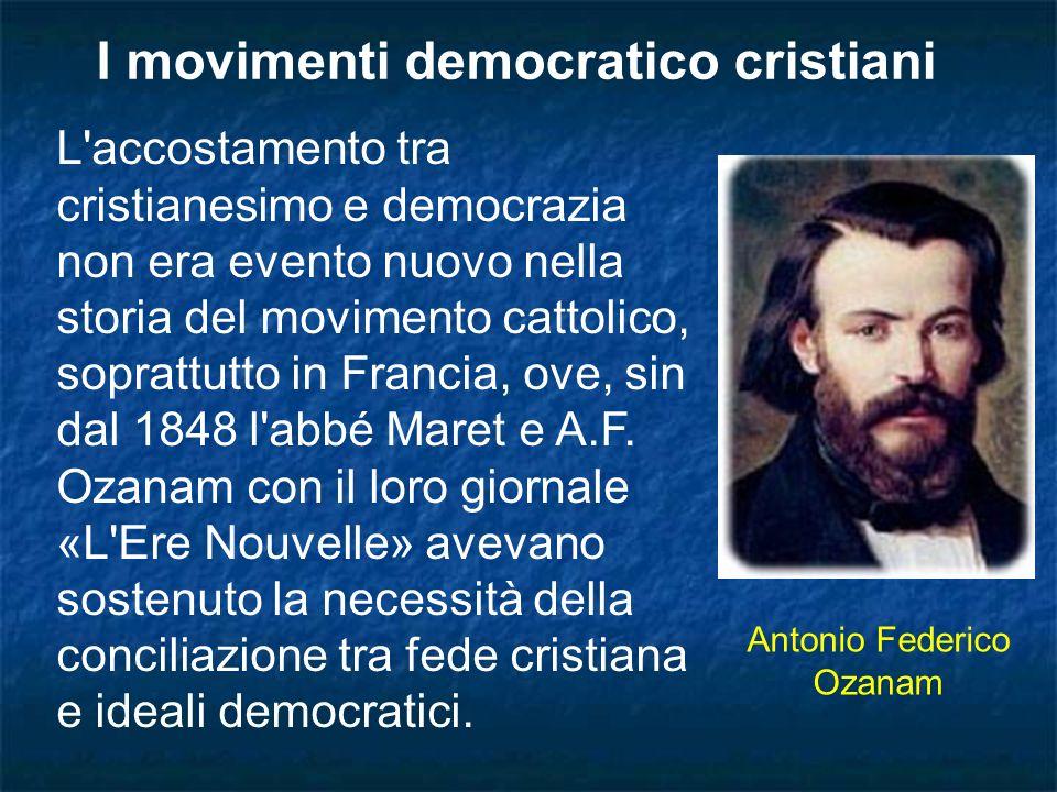 I movimenti democratico cristiani