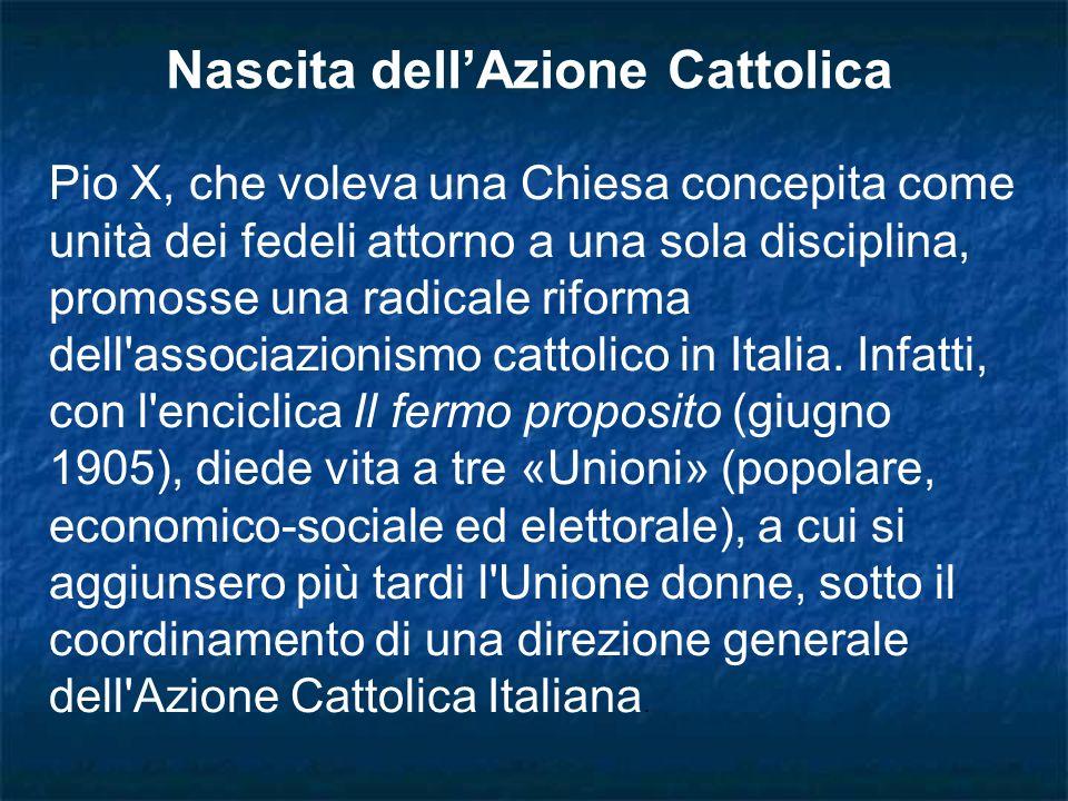 Nascita dell'Azione Cattolica