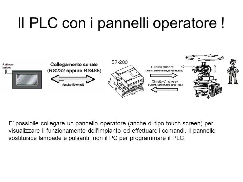 Il PLC con i pannelli operatore !