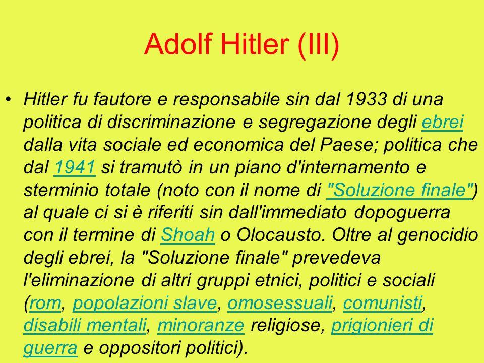 Adolf Hitler (III)