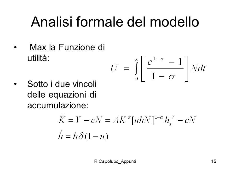 Analisi formale del modello