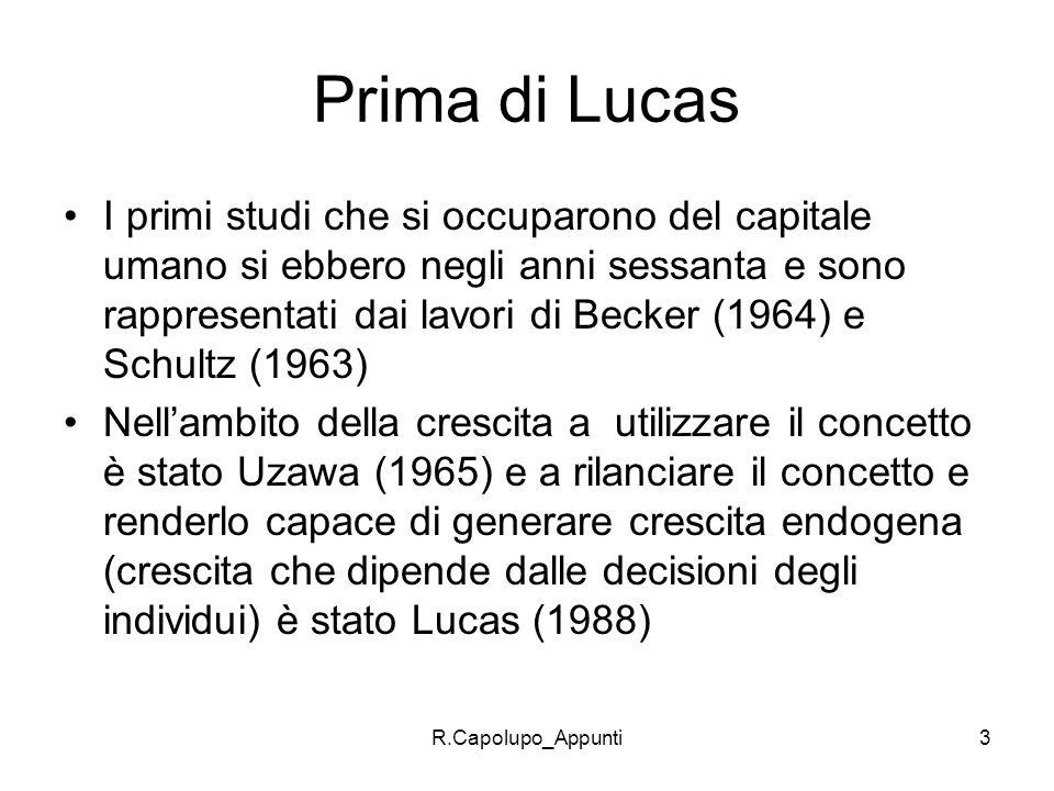Prima di Lucas