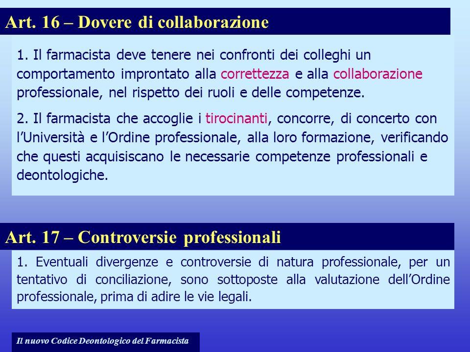Art. 16 – Dovere di collaborazione