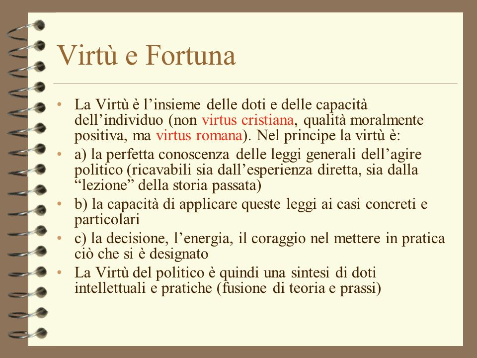 Virtù e Fortuna
