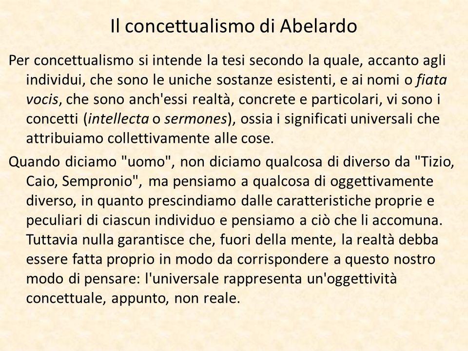 Il concettualismo di Abelardo