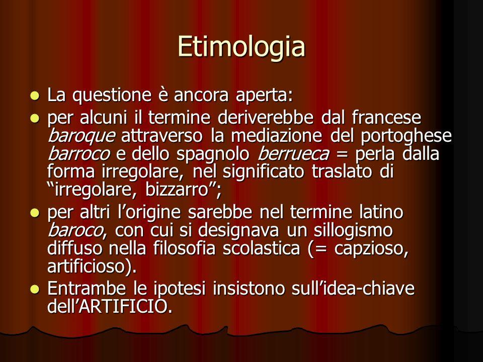 Etimologia La questione è ancora aperta: