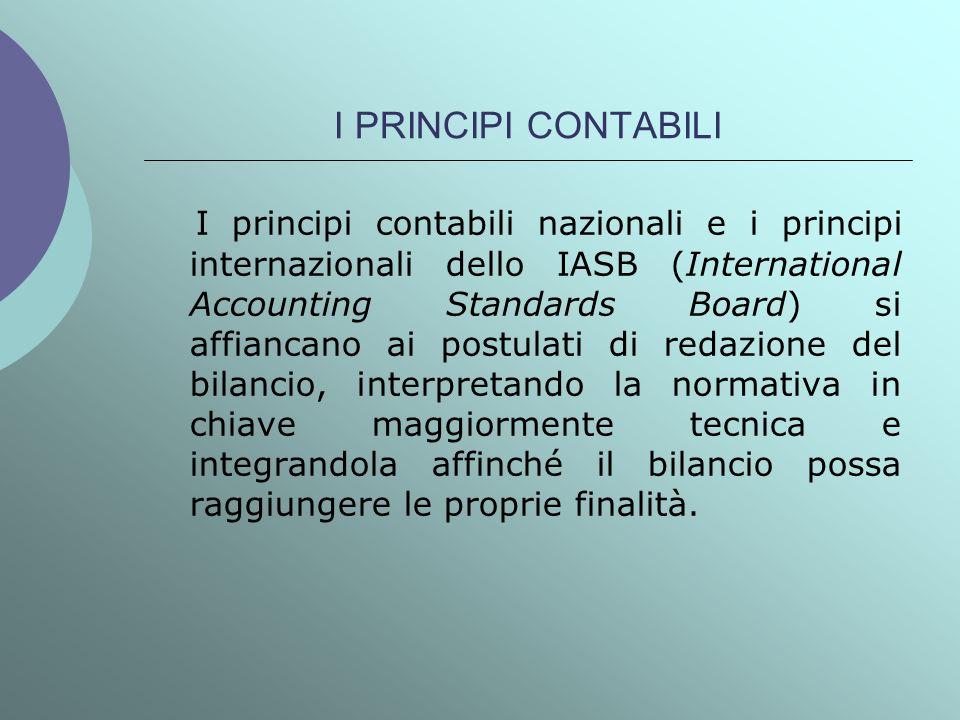 I PRINCIPI CONTABILI