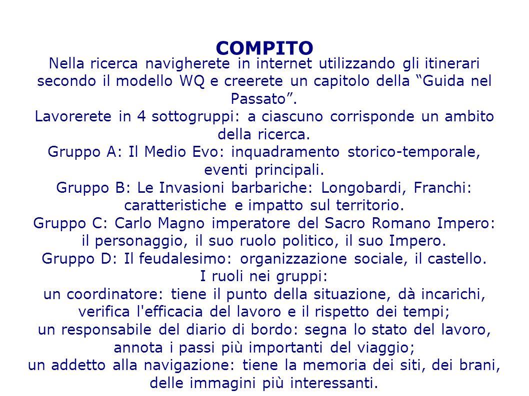 Gruppo D: Il feudalesimo: organizzazione sociale, il castello.