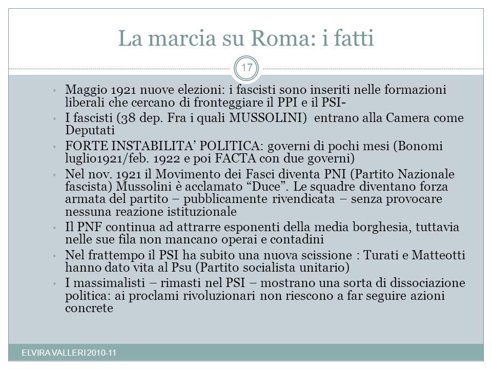 La marcia su Roma: i fatti