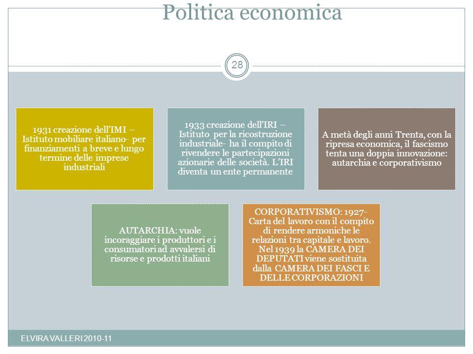 Politica economica ELVIRA VALLERI 2010-11