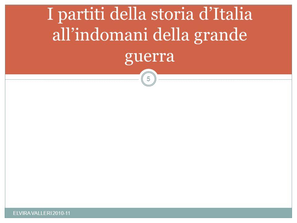 I partiti della storia d'Italia all'indomani della grande guerra