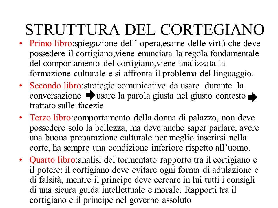 STRUTTURA DEL CORTEGIANO